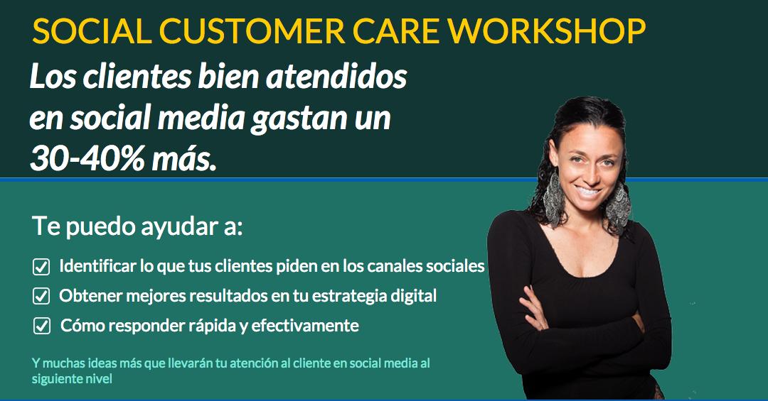 Workshop presencial: Social Customer Care en Madrid