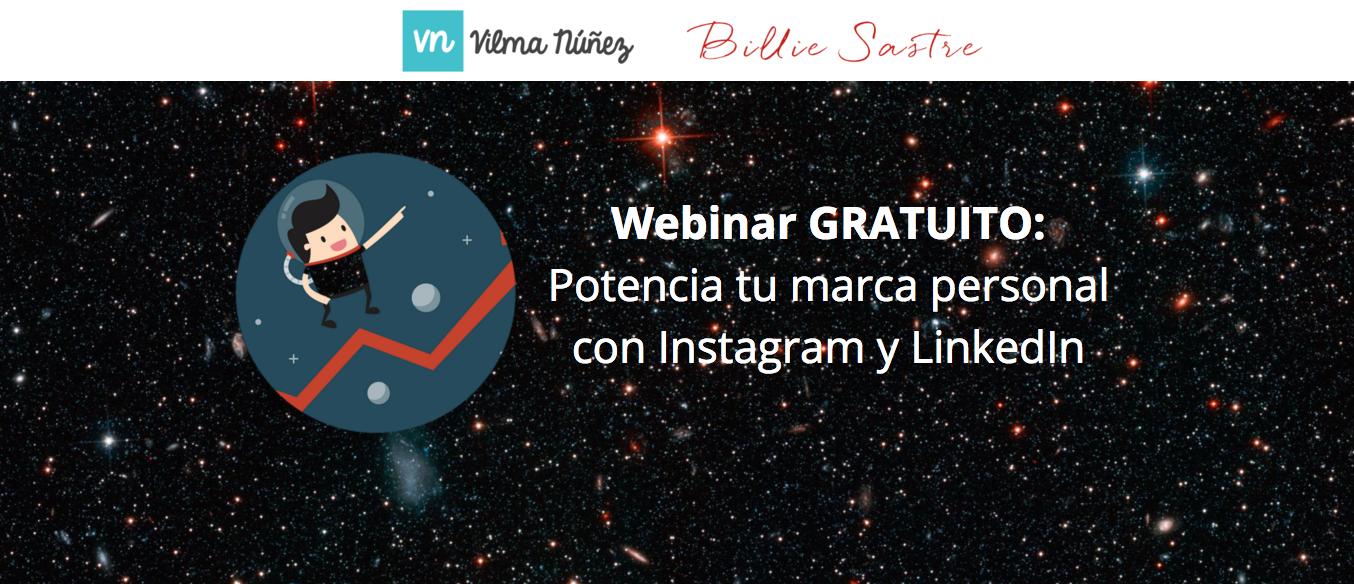 Webinar gratuito: Potencia tu marca personal con Instagram y LinkedIn