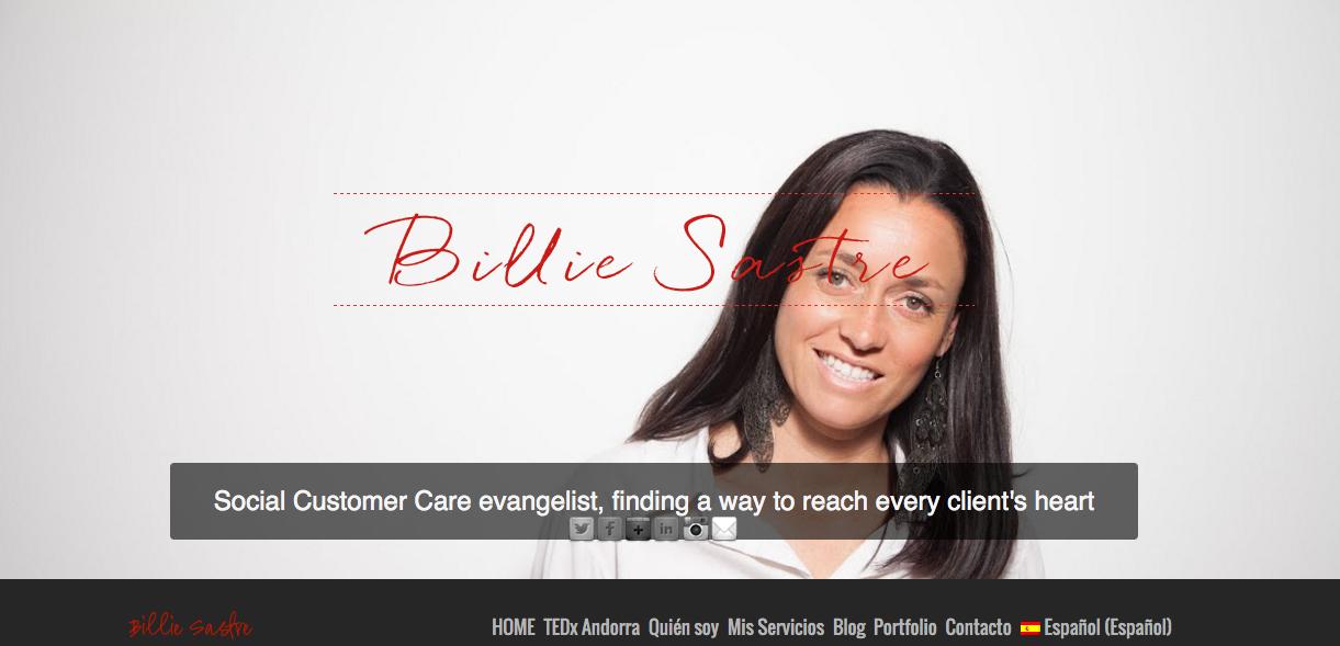 Web anterior Billie Sastre