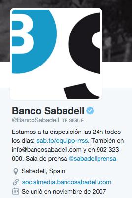 Atención al cliente de Banco Sabadell