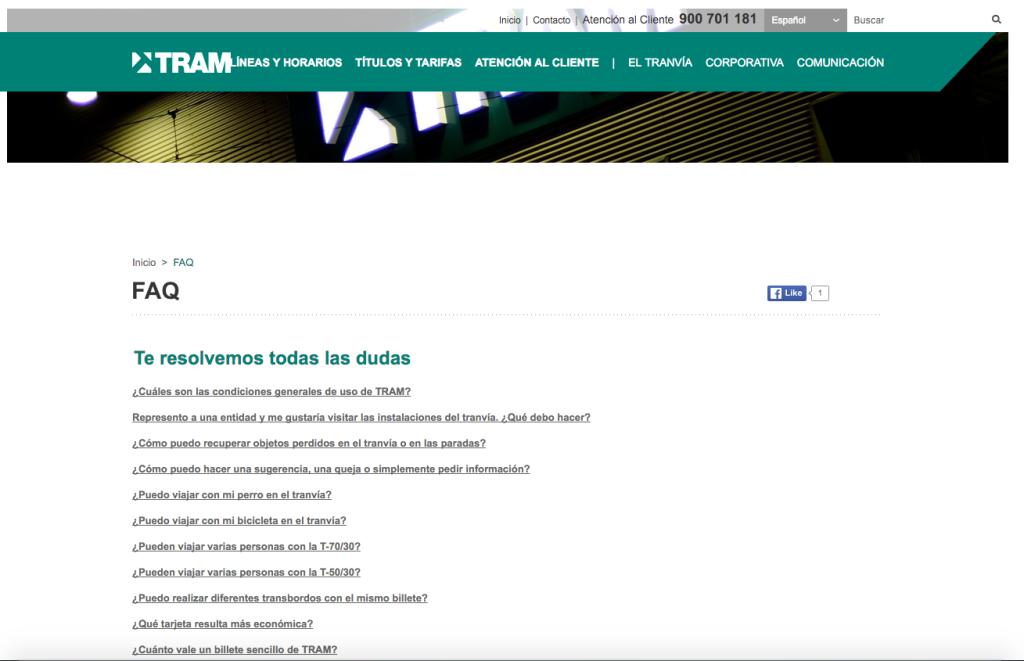 Servicio al cliente en tu ecommerce: caso TRAM