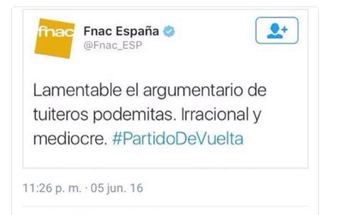 tweet fnac españa